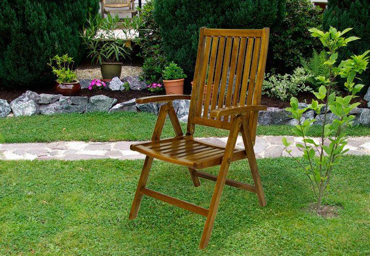 Skladacia stolička Garth z agátového dreva
