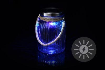 Dekoratívne solárne osvetlenie - závesný pohár - LED meniace farbu
