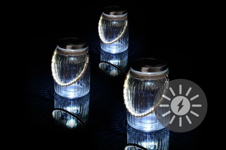 Sada 3 kusov solárneho osvetlenia - závesná nádoba