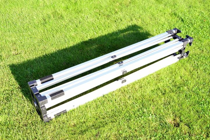 Záhradný párty stan nožnicový PROFI 3x3 m béžová + 2 bočné steny