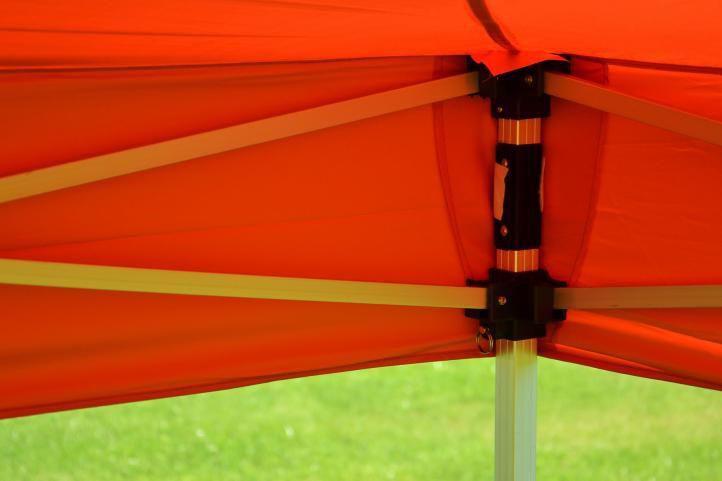 Záhradný párty stan nožnicový PROFI 3x3 m terakota + 2 bočné steny