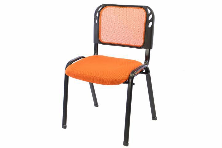 kancelářská židle, stohovatelná, polstrovaný oranžový sedák