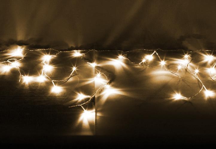 Vianočný svetelný dážď 600 LED teplá biela - 11,9 m