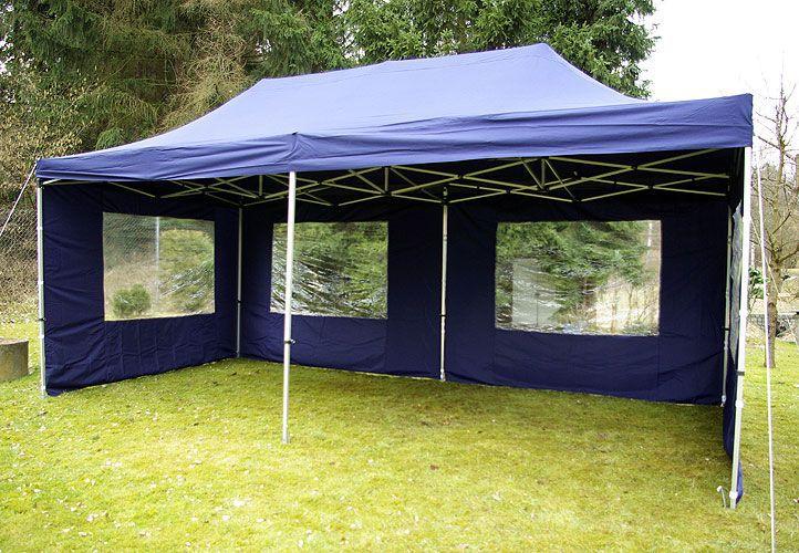 Záhradný párty stan 3 x 6 PROFI - nožnicový- modrý