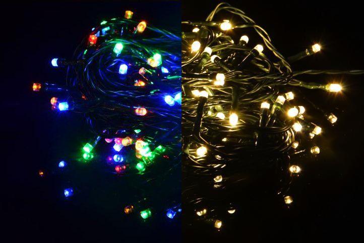 Vianočná reťaz - 3,9 m, 40 LED, 9 blikajúcich funkcií