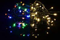 Vianočná svetelná reťaz 200 LED - 9 blikajúcich funkcií - 19,9 m