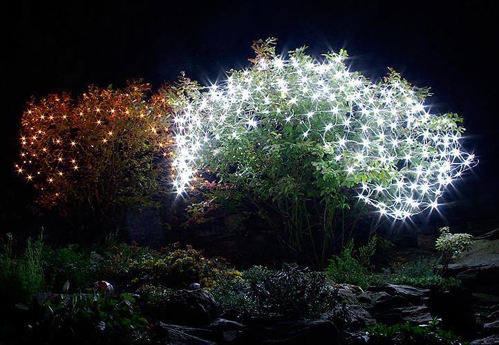 Vianočné osvetlenie - svetelná sieť 1,5 x 1,5 m - studená biela 100 LED