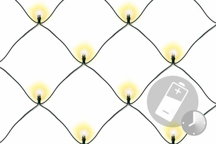 Vianočná svetelná sieť - 1,5 x 1,5 m, 100 diód, teple biela