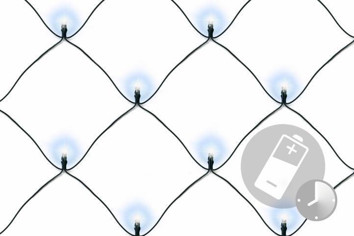 Vianočná svetelná sieť - 2 x 2 m, 160 diód, studeno biela