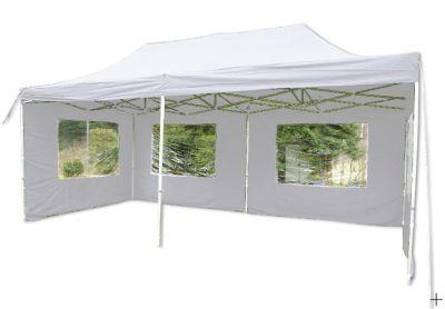 Záhradný párty stan 3 x 6 PROFI - nožnicový - biely