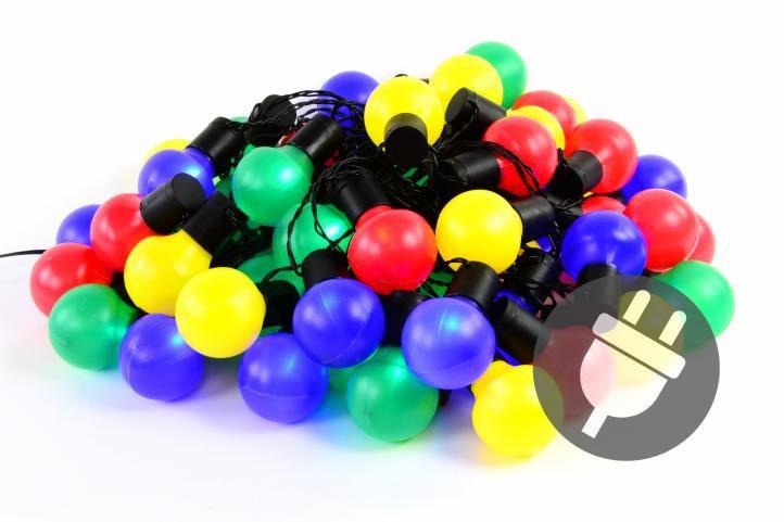 Farebné párty osvetlenie - vonkajšie - 50 LED