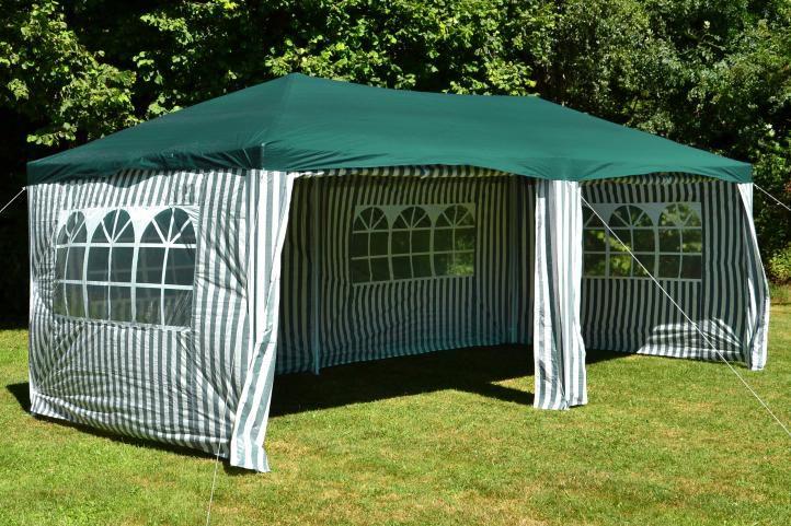 Záhradný párty stan 3 x 6 m, zelený
