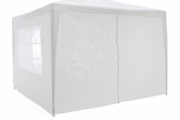 Záhradný párty stan klasický 3 x 3 + bočné steny - biela