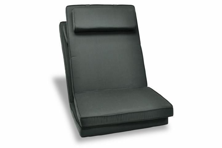 Sada 2 kusov polstrovania na stoličku Garth - antracit
