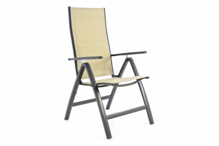 Záhradná skladacia stolička DELUXE – krémová