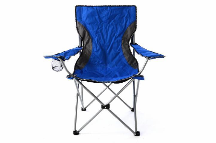 Skladacia záhradná stolička - modrosivá