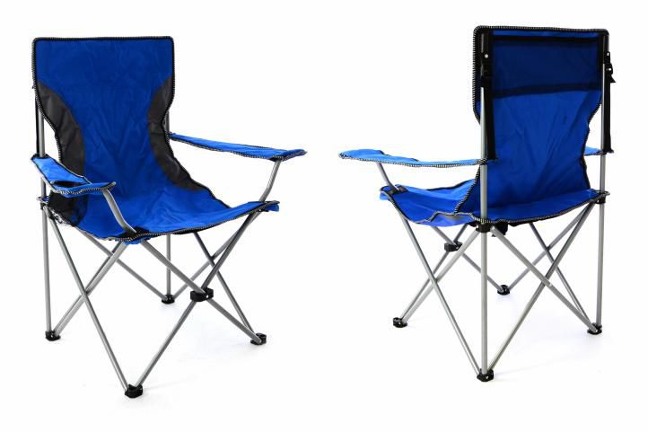 Sada 2 ks skladacích stoličiek - modrosivá