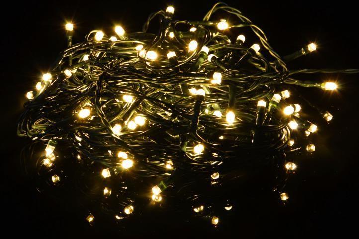 Vianočná svetelná LED reťaz - teplá biela - 80 LED 8 m