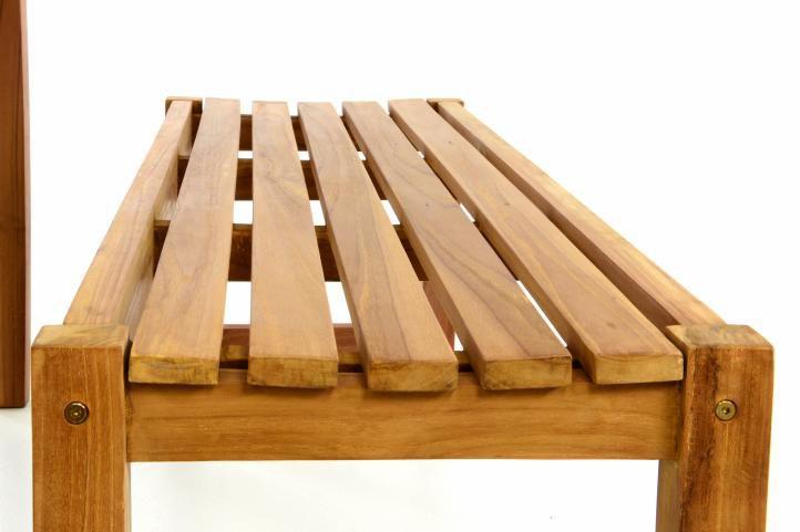 Záhradný set lavíc a stola DIVERO - ošetrené teakové drevo - 150 cm