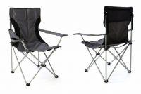 Sada 2 x kempingová rybárska skladacia stolička - sivá