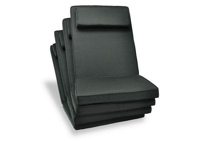 Sada 4 x polstrovania na stoličku Garth - antracit