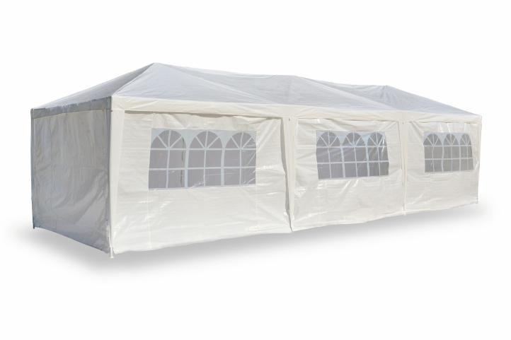 Garthen 410 Záhradný stan - biely, 3 x 9 m