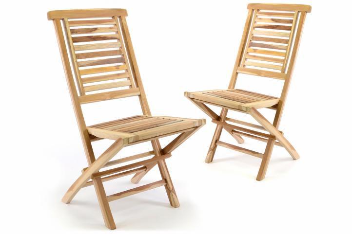 "Sada 2 ks skladacej stoličky DIVERO ""Hantown"" - teak"