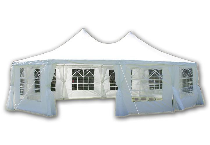 Záhradný stan - biely, 8,9 x 6,5 m