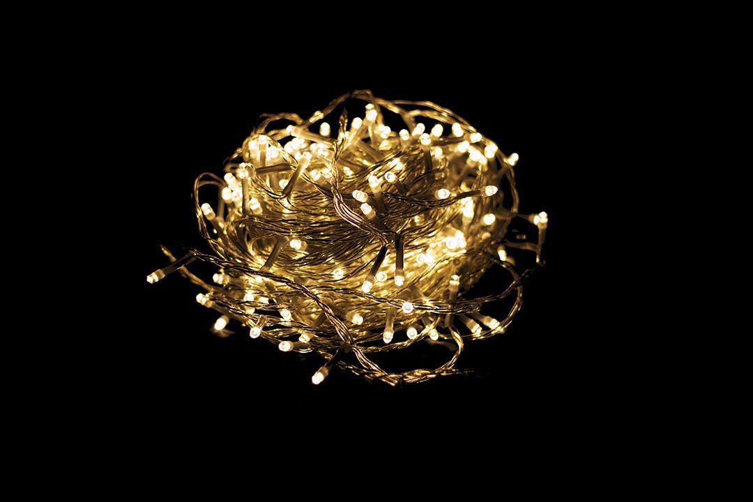 Vianočné LED osvetlenie 10 m – teplá biela 100 LED s časovačom