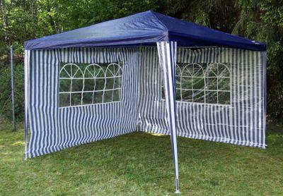 Sada dvoch bočných stien pre záhradný stan - biela / modrá Garth