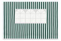 Sada dvoch bočných stien pre záhradný stan - biela / zelená