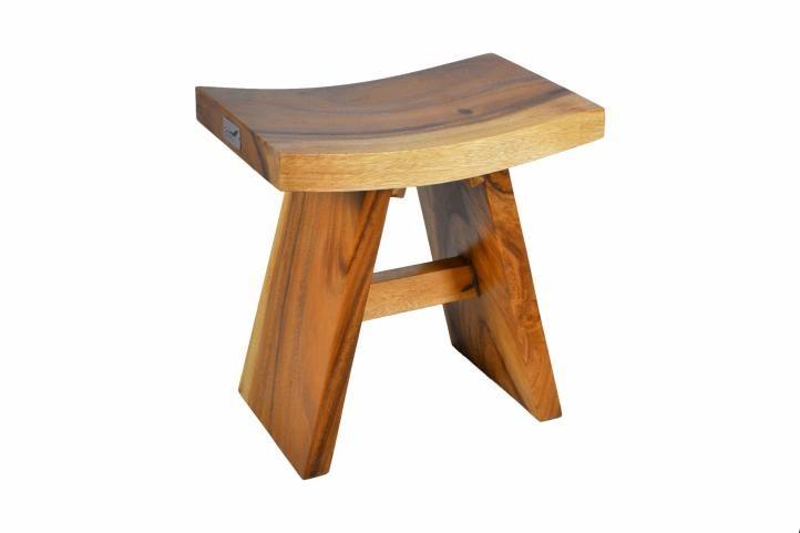 Stolička z masívneho dreva DIVERO