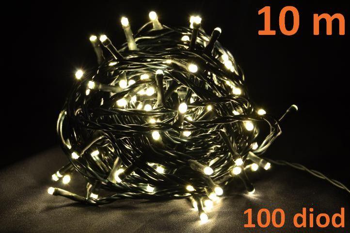 OEM D04266 LED osvetlenie 10m - teple biele, 100 diód