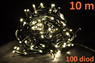 LED osvetlenie 10m - teple biele, 100 diód