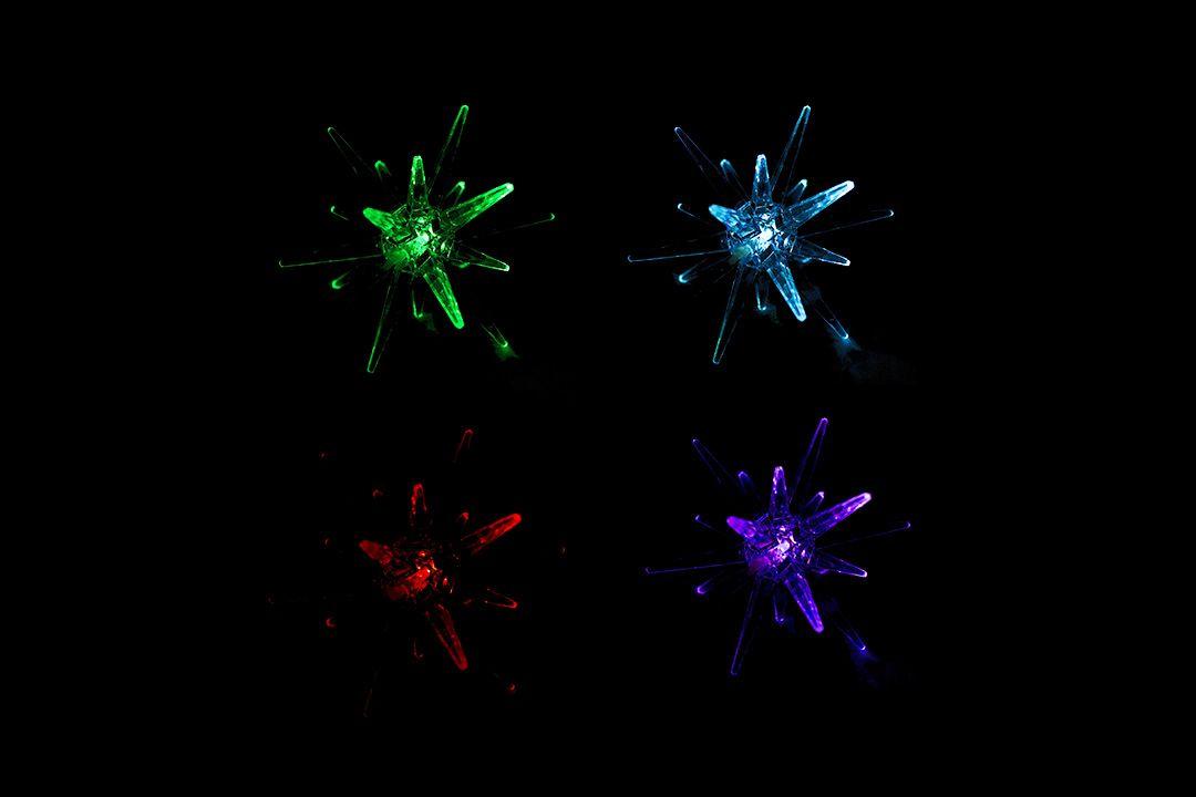 Svetelná LED dekorácia - hviezda – meniaca farby