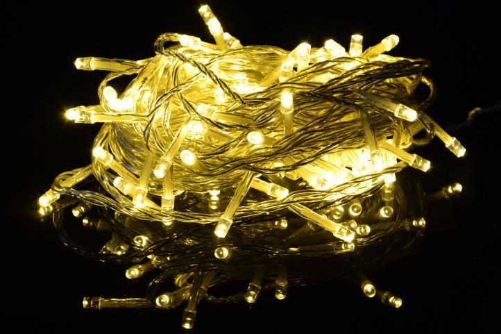 Vianočné LED osvetlenie  1,35 m- teplá biela 10 diód