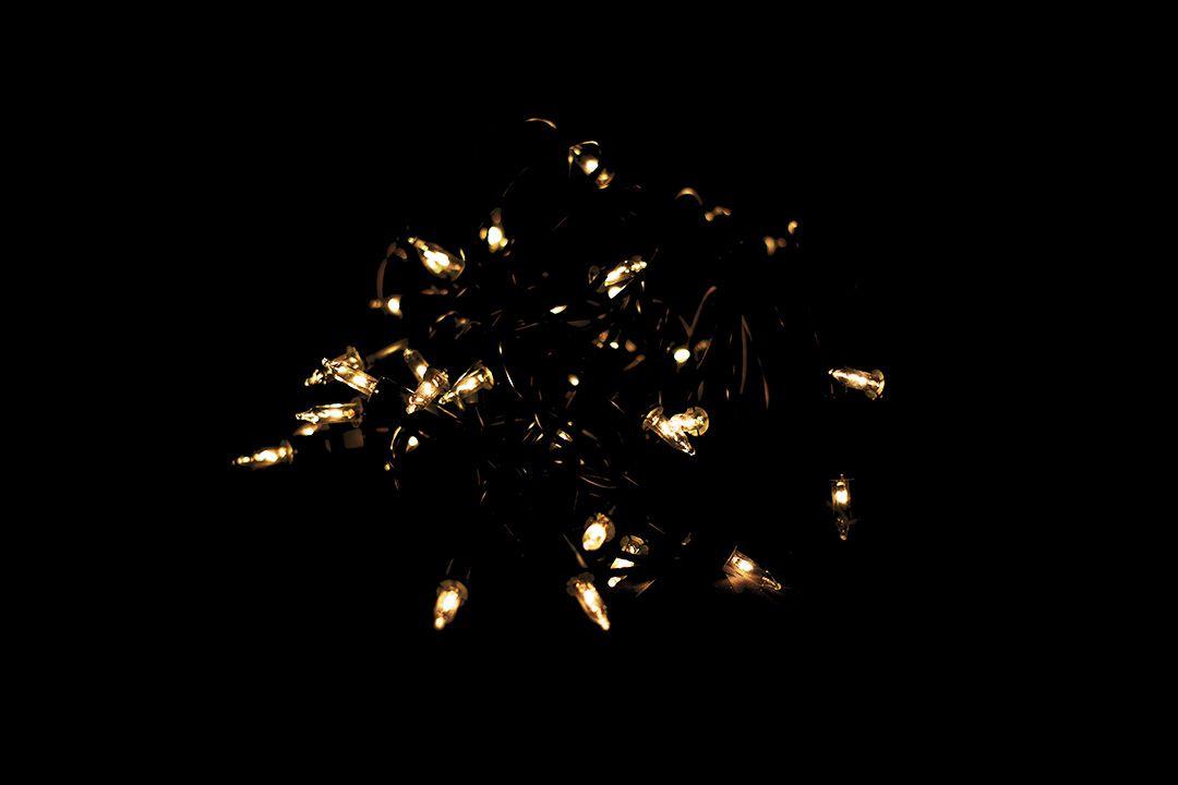 Vianočná svetelná reťaz – 50 MINI žiaroviek - žltá