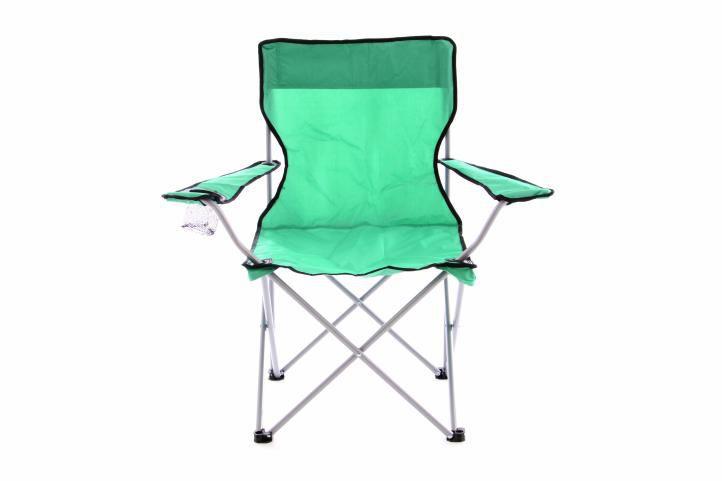 Skladacia kempingová rybárska stolička OXFORD - zelená