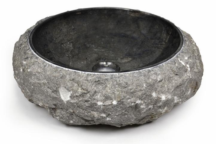 Umývadlo z kameňa DIVERO - čierny mramor