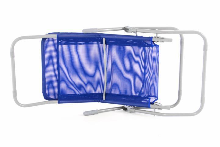 Záhradné hojdacie ležadlo - modré - 160 cm