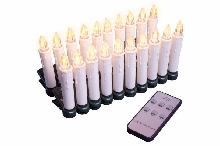 Vianočné sviečky na stromček - bezdrôtové - 20 ks