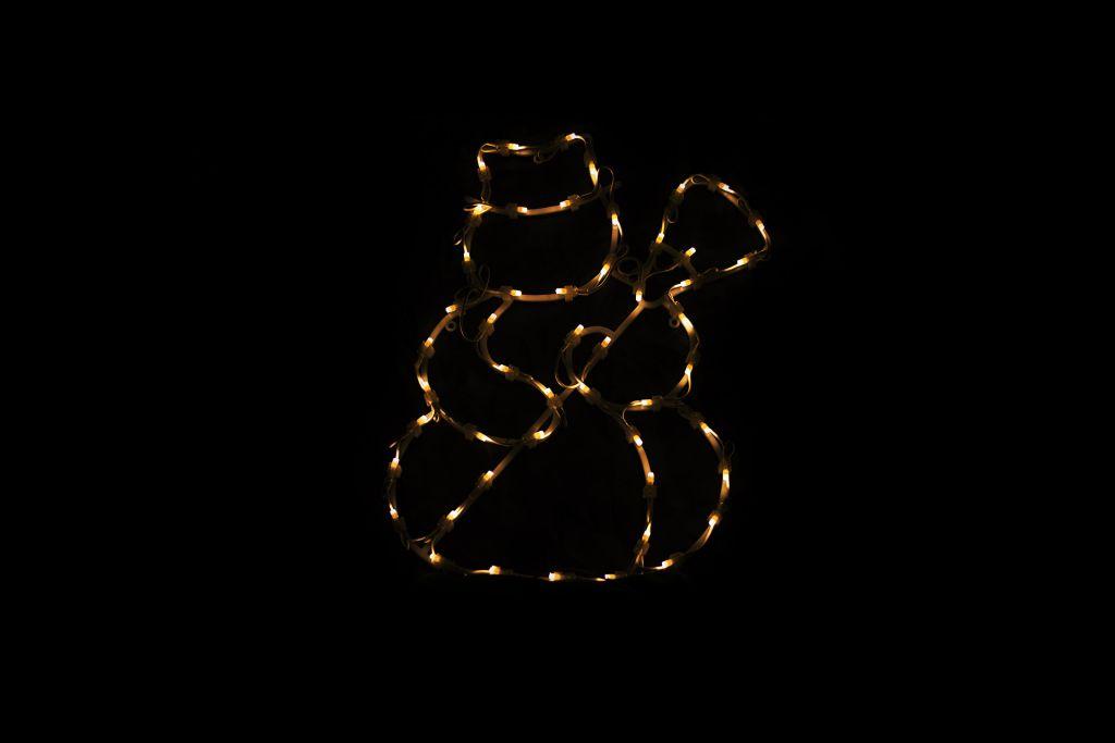 Vianočná LED dekorácia do okna - SNEHULIAK - 40 cm