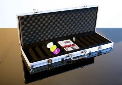 Hliníkový kufor na 500 ks žetónov s príslušenstvom