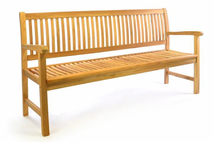Záhradná lavica z masívneho teaku DIVERO 3-miestna