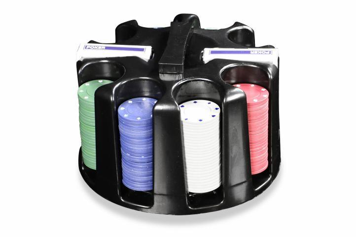 Poker set 200 ks - Caddy – otočný plastový stojan na žetóny