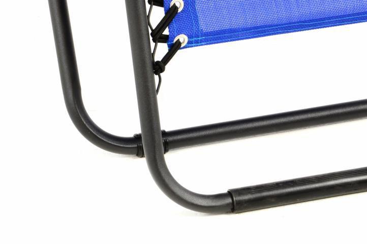 Záhradné skladacie hojdacie ležadlo s podhlavníkom – modré