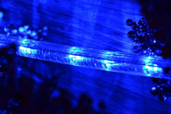 LED svetelný kábel - 480 diód, 20 m, modrý