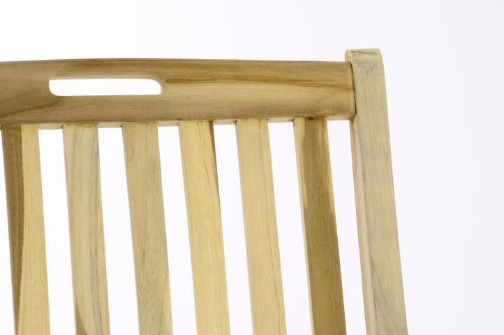 Záhradná skladacia stolička drevená DIVERO - Sada 2 ks