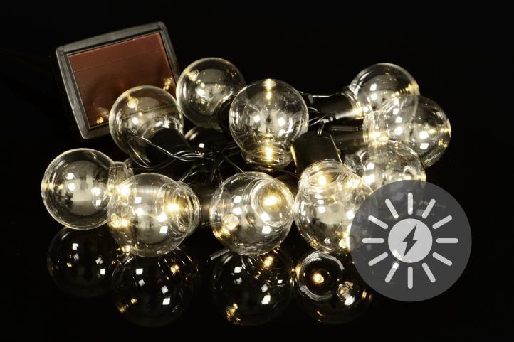 LED solárna svetelná reťaz s 10 žiarovkami