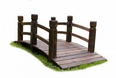 Drevený záhradný mostík Garth